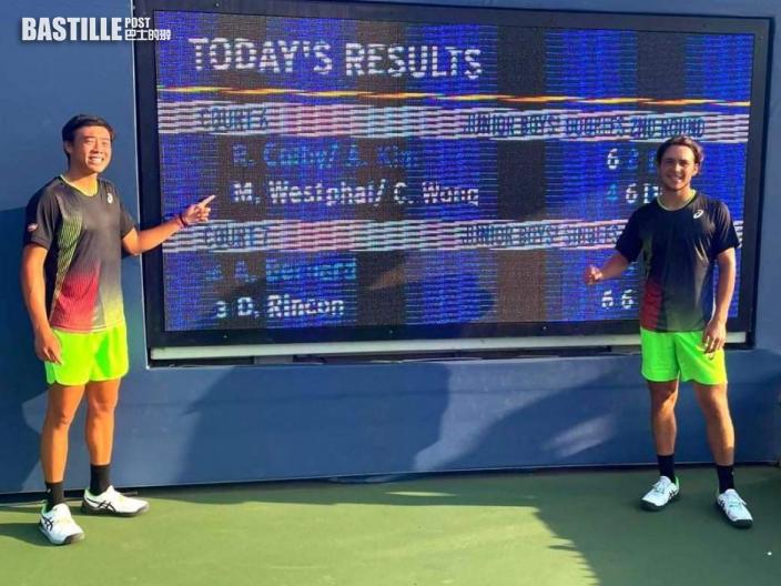 【網球】黃澤林打入美網男雙決賽 周日早上爭標