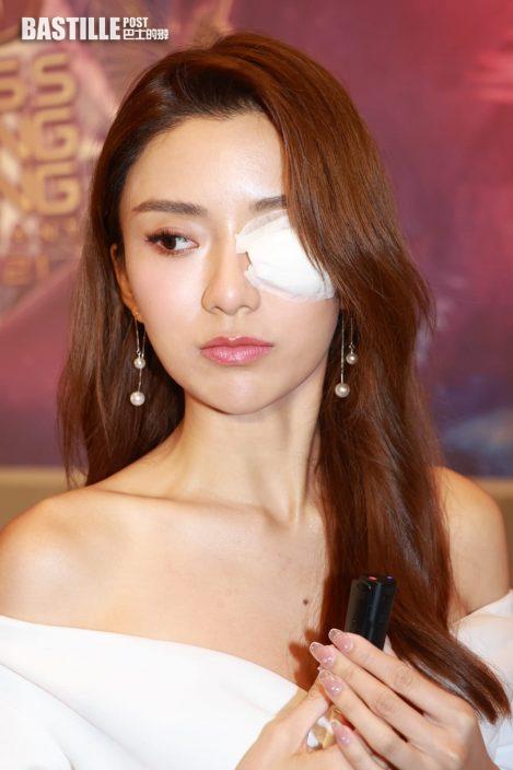 港姐2021|疤痕似眼線沒影響表現 陳聖瑜信心不受走勢打擊