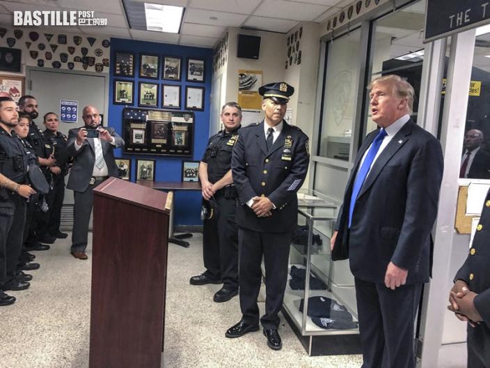 911紀念日訪紐約警局消防局 特朗普轟撤軍混亂拜登無能