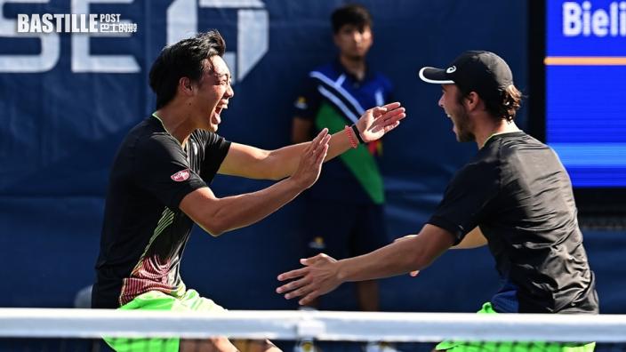 【網球】黃澤林勇奪美網青少年組雙打冠軍 網總會長莫君逸培見港將揚威