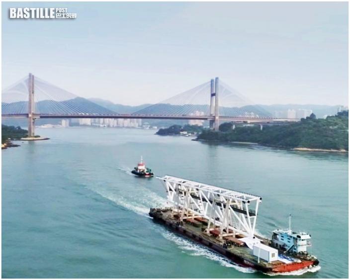 啟德體育園大型主鋼桁架 由中山經海路抵港