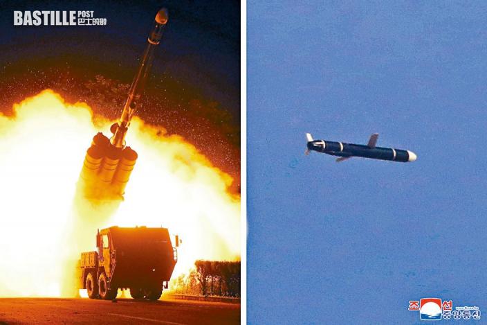 北韓炫武威懾日韓 射新長程巡航導彈