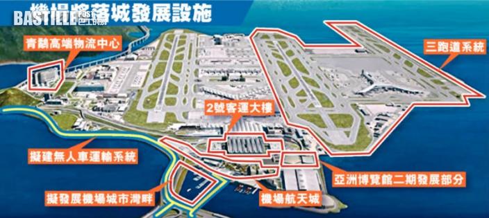 機管局規劃打造機場城市灣畔 或附遊艇會等