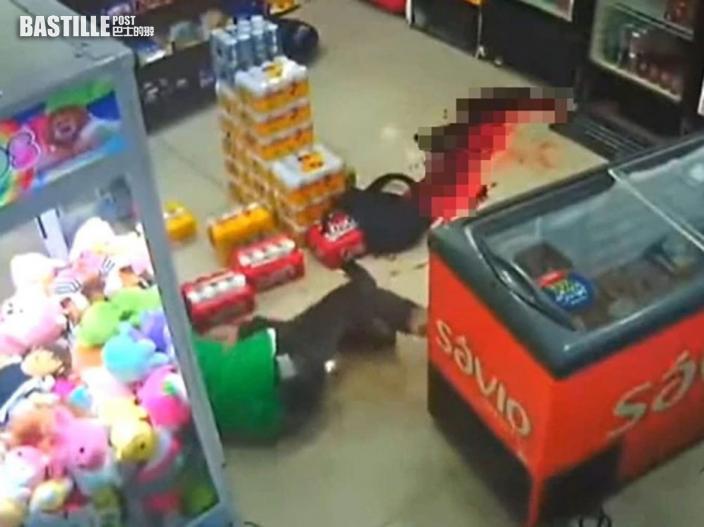 巴西槍匪打劫超市走火 自轟身亡同伴四散