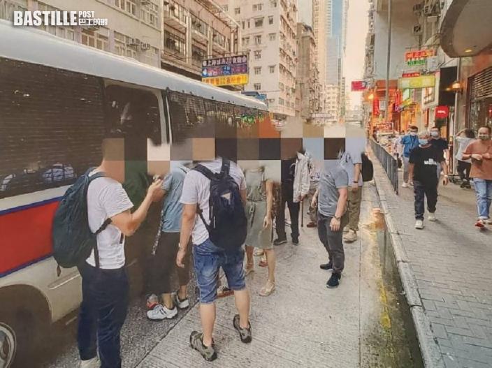 警打擊西九龍工廈拘126人 3保安為報酬變「天文台」睇水