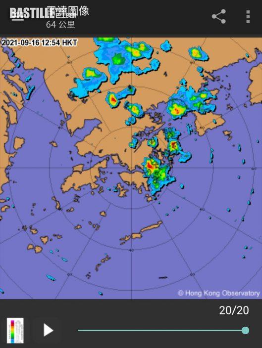 高溫觸發雷雨 將軍澳落雹大小如碎冰