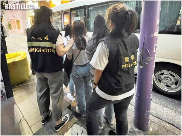 跨部門油尖區掃黃 拘20男女最細15歲