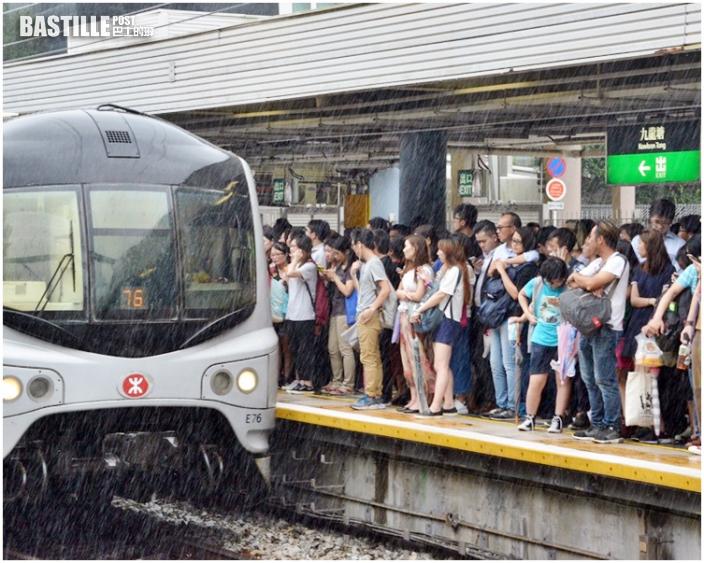 東鐵來往紅磡及九龍塘站列車服務受阻