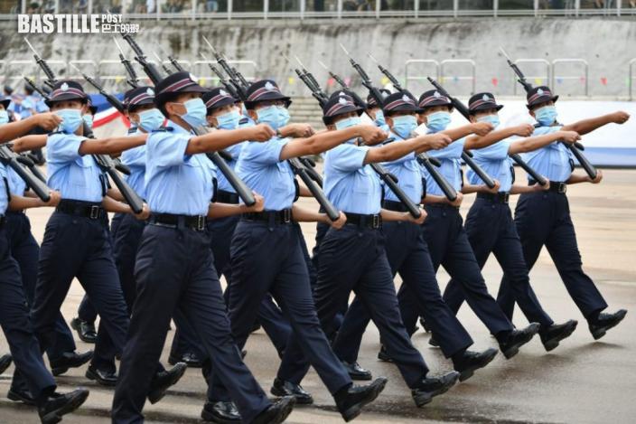 警察學院結業會操 升旗環節再用中式步操