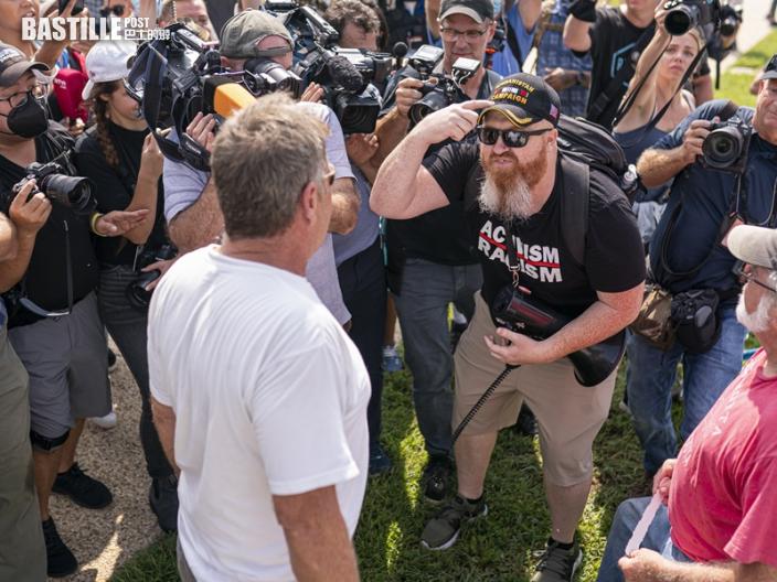 國會山莊外數百人集會支持特朗普 警嚴陣戒備拘4人