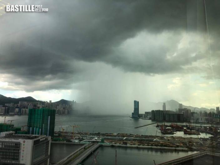 Kelly Online|黃傑龍分享「左晴天右雷暴」照片 網民:這就是天氣