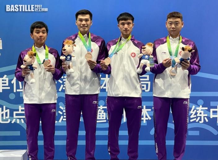 全運會|港隊花劍團體賽奪銅牌 大師兄張小倫:堅持才會有希望