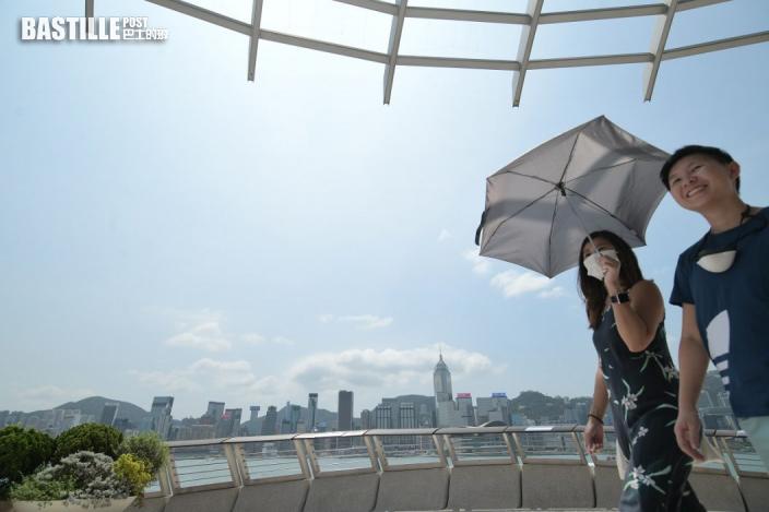 周末有驟雨下周二三酷熱 國慶日陽光高見32度