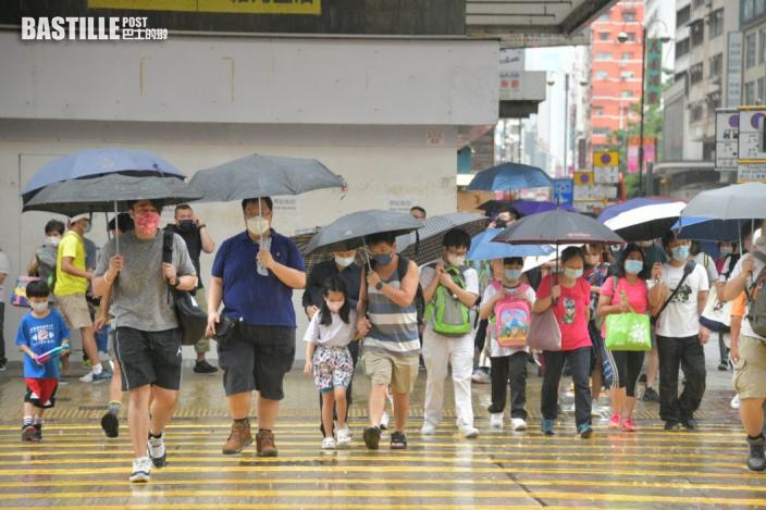 部分地區雨勢較大 70公里以上強陣風繼續襲港