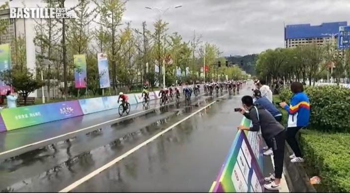 全運會 公路單車女子個人賽 港隊李思穎奪金