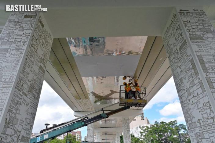 路政署美化50隧道及天橋 特色圖案配合地區風貌