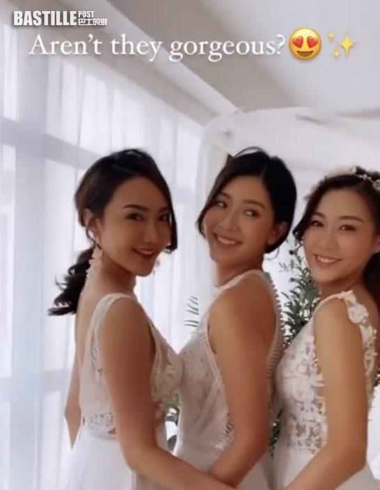 余香凝為好姊妹再披婚紗  準新娘陳詩欣露事業線騷本錢