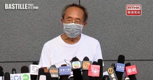 徐漢光以個人名義,向高等法院申請司法覆核,要求宣布支聯會並非外國代理人。(廖漢榮攝)