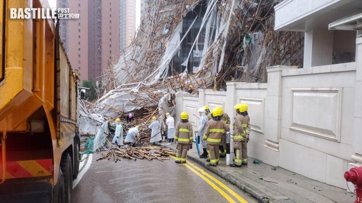 消防:樂活道塌棚架面積巨大 增搜救被困女工難度