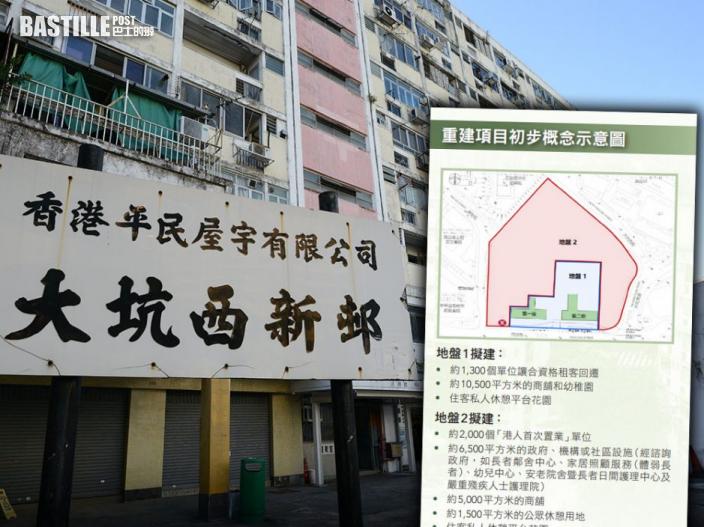 大坑西新邨2027年完成重建 租金水平料與公屋相若