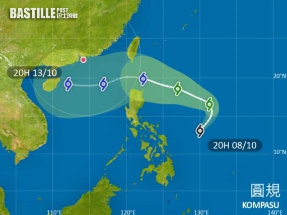 雙旋「前後腳」來襲 「圓規」下周中闖港400公里範圍