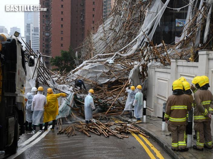 獅子山襲港吹毀巨型棚架 女工慘遭壓斃遺兩子女