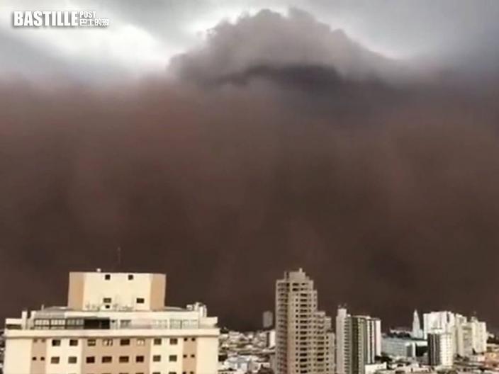 巴西東南部括超級沙塵暴6人死亡 氣象家稱與氣候變化脫不了關係