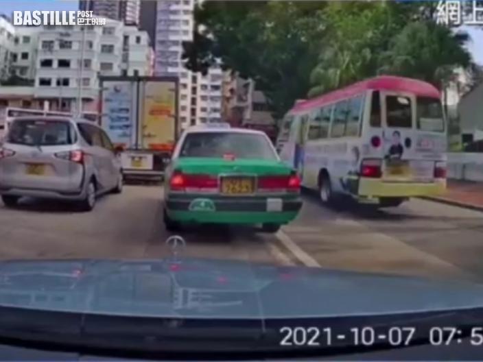 車Cam直擊|元朗紅Van逆線爬頭衝斑馬線 六旬司機涉危駕被捕
