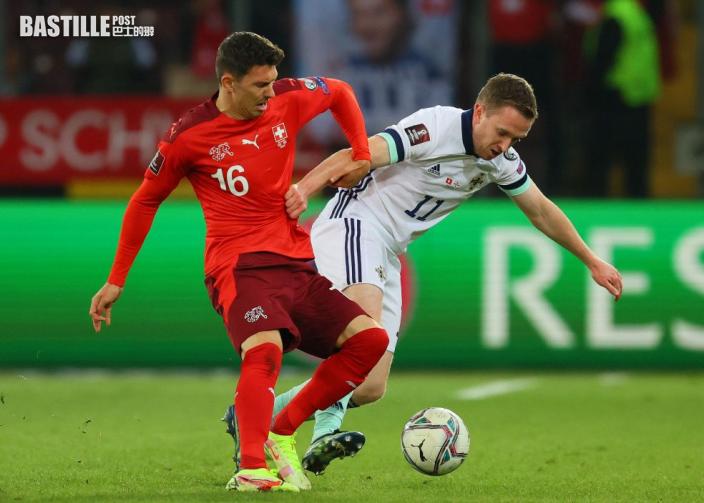 世盃外 擲界外球領紅 北愛寡敵眾負瑞士
