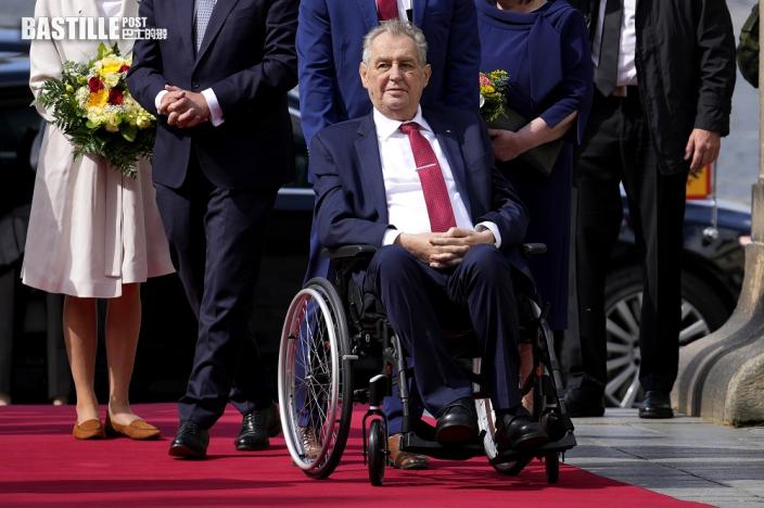 捷克總統澤曼入院 在深切治療部留醫