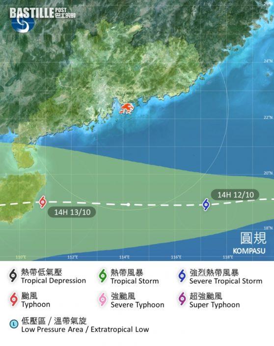 「圓規」今晚闖港800公里內 天文台將掛風球取代強烈季候風信號