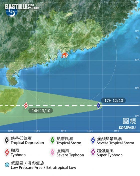 圓規襲港|天文台改發8號東北烈風及暴風信號