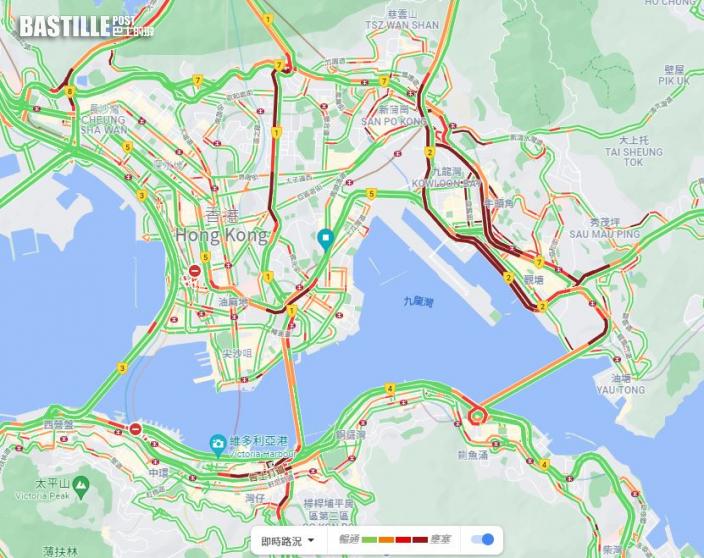 圓規襲港|市民趕回家各區交通大擠塞 九巴:途經觀塘班次延誤