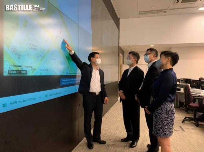 圓規襲港|李家超視察緊急事故中心 強調首要考慮市民安全