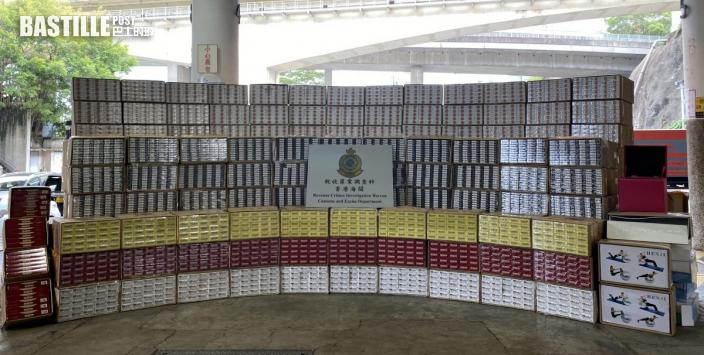 海關多區檢2880萬私煙 5男子被捕