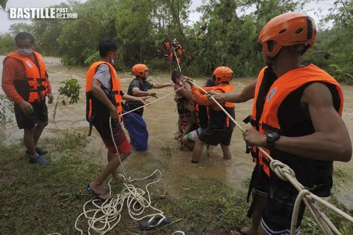 圓規吹襲菲律賓 增至11死7失蹤 預警將有新一輪水浸及山泥傾瀉