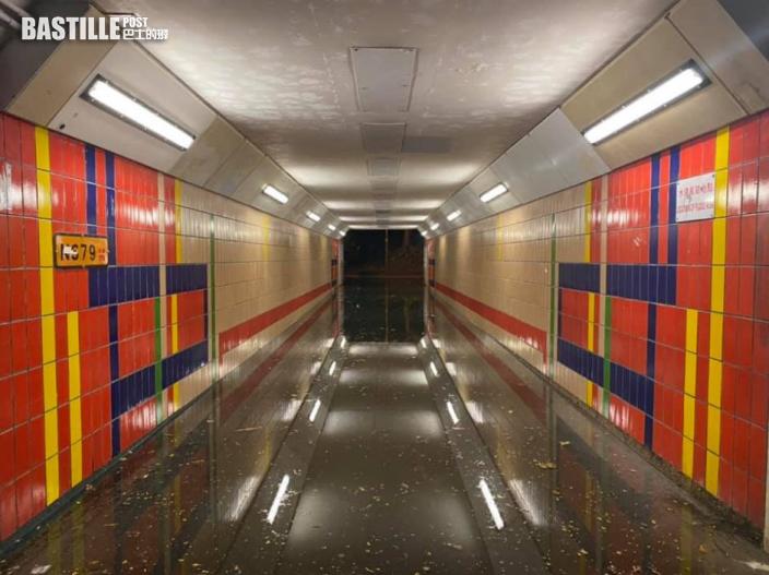 圓規襲港|沙田行人隧道水浸深及腰 城門河單車徑遭淹沒