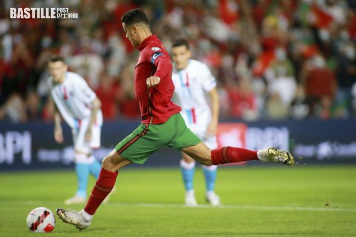 世盃外 C朗拿度第10次戴帽創新紀錄 葡萄牙5:0大炒盧森堡